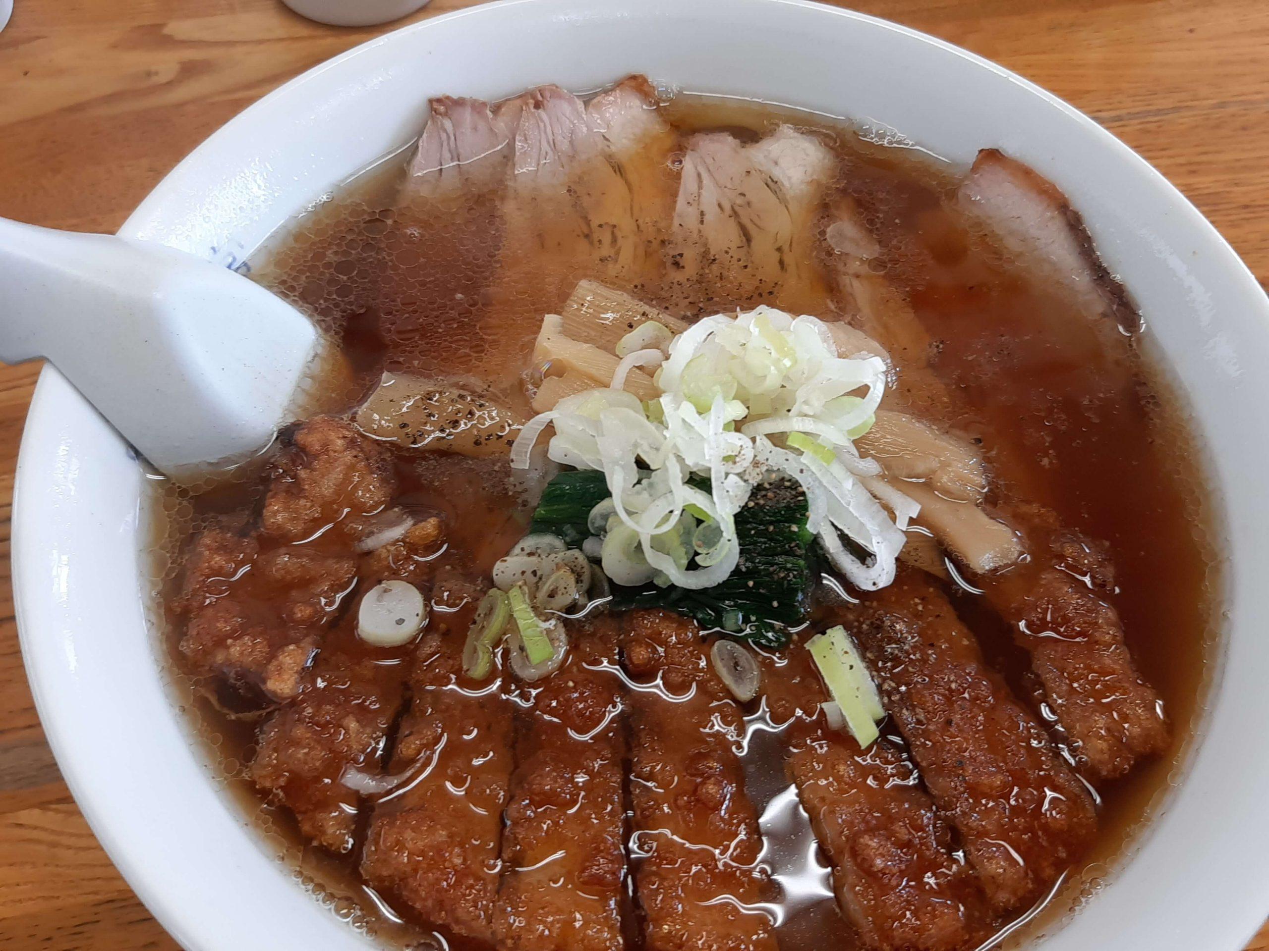 手打ち麺とパーコー麺で有名な『味の新宮 小鶴店』で盛合せメンを食べてみた!